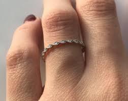braided band braided diamond ring etsy