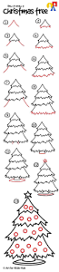 christmas tree drawing outline for kids ue with presents coloring