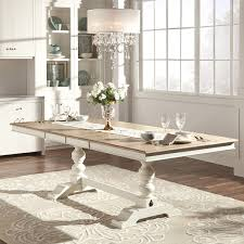 White Extending Dining Table And Chairs Mckay Country Antique White Pedestal Extending Dining Table By