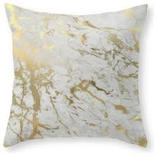 gold marble throw pillow contemporary decorative pillows by