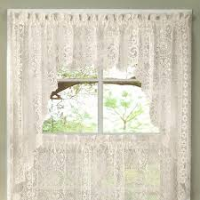 Valances And Curtains Luxurious Old World Style Lace Kitchen Curtains Tiers And