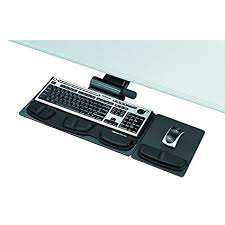 office desk with adjustable keyboard tray amazon com fellowes 8036001 professional premier series adjustable