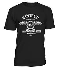gifts 60 year woman made in 1957 60th birthday 60 years gift t shirt limited