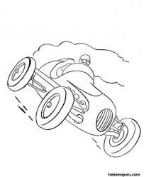 race car print coloring pages kids printable