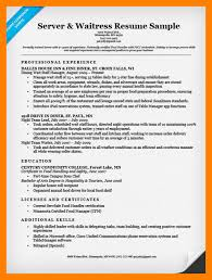 Food Service Resume Sample 8 Server Resume Samples Mla Cover Page