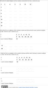 factors and multiples worksheets worksheets