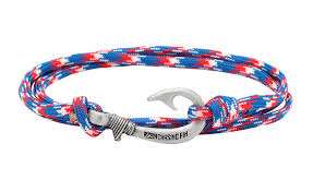bracelet red images Red white blue fish hook bracelet fish hook bracelets jpg