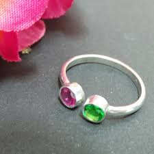 dual birthstone ring two dual birthstone ring for or girl birthstone ring