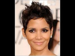 harry berry hairstyle halle berry inspired haircut tutorial youtube