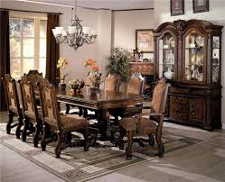 Dining Room Sets In Houston Tx by Crown Mark Neo Renaissance Double Pedestal Dining Table And Chairs