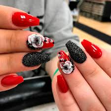 sport beautiful red acrylic nails naildesignsjournal com