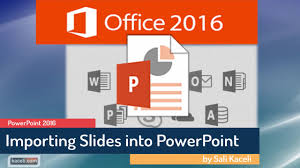 powerpoint 2016 tutorial reusing importing slides from another