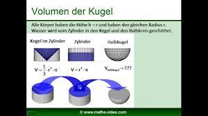 oberfläche zylinder kugel volumen oberfläche herleitung der formeln www mathe