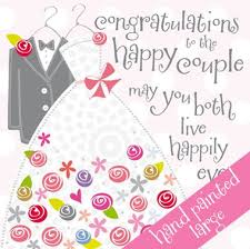 congrats on wedding card congratulations to the happy large handmade wedding card