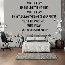 song lyric quotes wall stickers iconwallstickers co uk foo fighters the pretender song lyrics wall stickers music decor art decals
