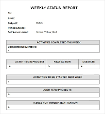 report template 7 weekly status report templates word excel pdf formats