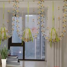 voilage cuisine 80x100 cm tulle pour fenêtre rideau fleur brodé voilage rideaux pour