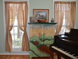 burlap curtains creative ideas for curtains premier table