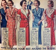 1930s house dresses fabrics patterns