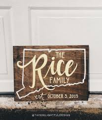 custom wood family established sign connecticut ct wedding