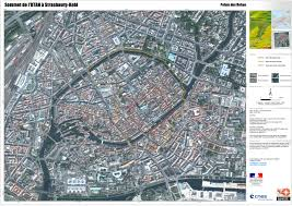 Strasbourg France Map by Large Meeting France 2009