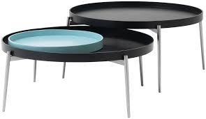 Coffee Table Contemporary by Contemporary Coffee Table Mdf Steel Round Vera Boconcept