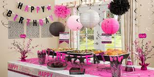 mesmerizing pink and black birthday party decorations perfect home