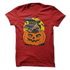 happy halloween funny funny cartoon pug dog in a pumpkin happy halloween t shirt salalo