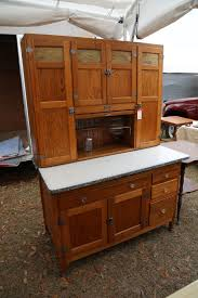antique oak baker u0027s cabinet or hoosier style cupboard with flour