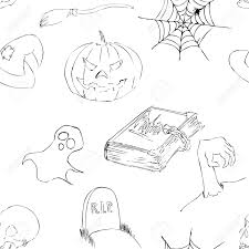 white and black halloween background halloween hand drawing sketchy background in black and white