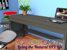 Desk Used Wood Desks For Sale Build A Wood Plank Desktop For by More Like Home Day 2 Build A Casual Desk With 2x4s