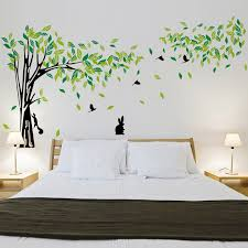 living room wall stickers large green tree wall stickers vinyl living room mural art decal