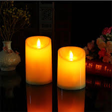 3 candle electric light pack of 3 amber flameless christmas led candles electric moving wick