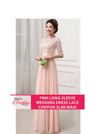 wedding dress malaysia buy pink sleeve wedding dress malaysia lace chiffon maxi