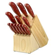 amazon com hampton forge magna 13 piece cutlery knife set red