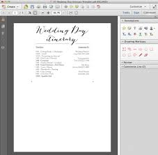 wedding itinerary for guests edit and print this free wedding itinerary