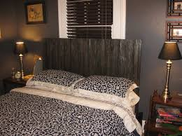 Wood Headboards For King Size Beds by Bedroom Design Natural Black Painted Wooden Homemade Headboards