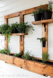Hanging Herb Planters Diy Vertical Herb Garden And Planter 2x4 Challenge