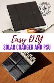 diy phone charger easy diy solar charger and psu