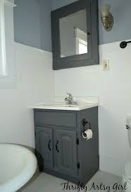 Bathroom Ideas Apartment The Power Of Paint Shades Of Grey Apartment Bathroom Reveal