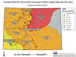 colorado snowpack map usa holding below average snowpack tahoe utah and mt