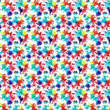 autism fabric wallpaper gift wrap spoonflower
