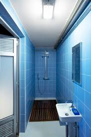 blue and white subway tile bathroom blue and white cottage