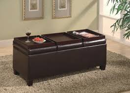 Ottomans With Trays Storage Ottoman With Trays