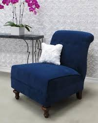 navy blue chair and ottoman haute house ariana navy tufted chair