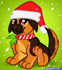 how to draw a christmas dog christmas dog step by step