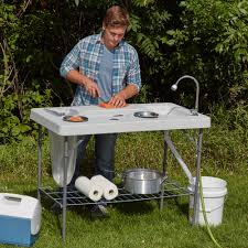 deluxe fish cleaning camp table with flexible faucet www kotulas