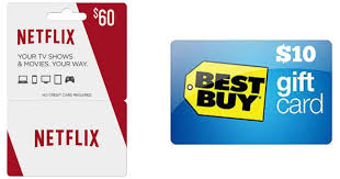 gift cards buy best buy 60 netflix gift card and 10 best buy gift card only