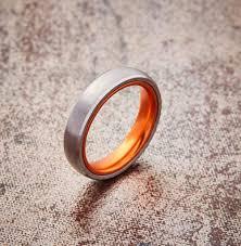 titanium tungsten rings images Embr silver tungsten ring resilient orange 4mm jpg