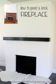 How To Update Brick Fireplace by Painting Our Red Brick Fireplace White Hometalk